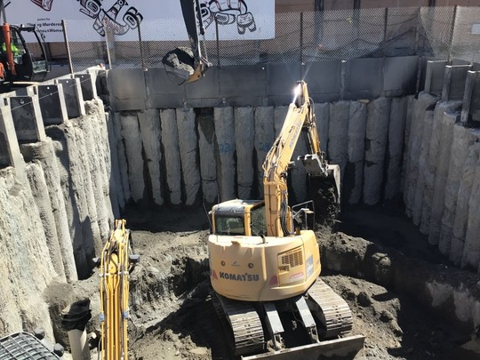 The start of shaft excavation at the Wallingford site, where MudHoney will complete its journey.