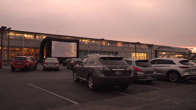 Drive-in movie at the Museum of Flight