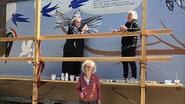 Fay Jones & her artist buddies beautify a Capitol Hill garage