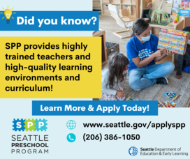 Did you know SPP offers nationally recognized curriculum? Apply today at seattle.gov/applyspp