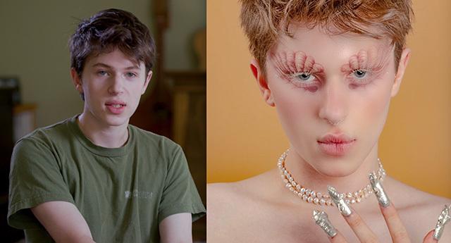 Makeup artist Julian Stroller
