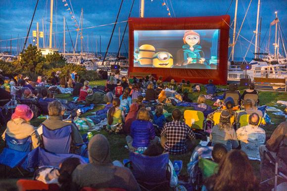 Movies at the marina