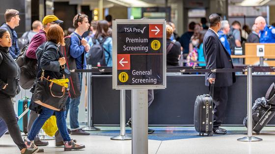 Folks in main terminal at Seas-Tac Airport