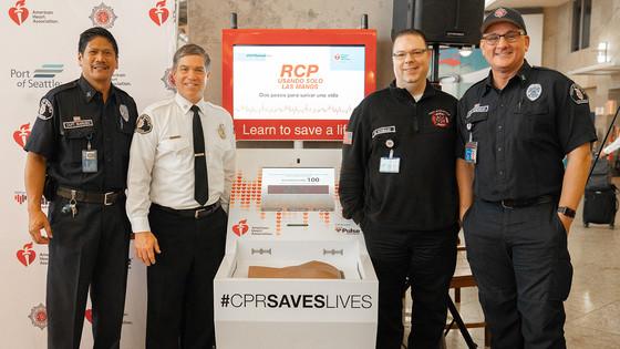 CPR kiosk at SEA