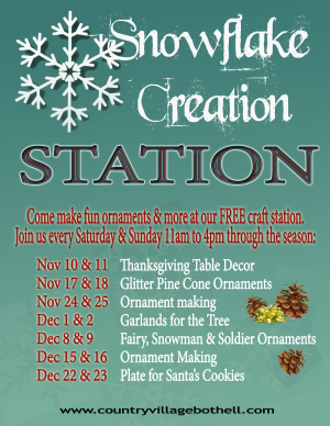 Snowflake Creation Station Poster