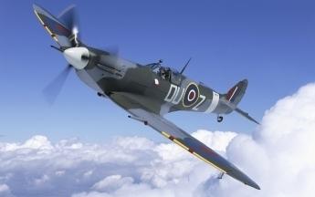 WWII Spitfire in Flight