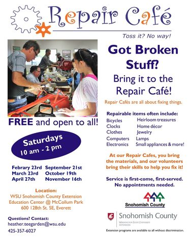 Poster for Repair Cafe