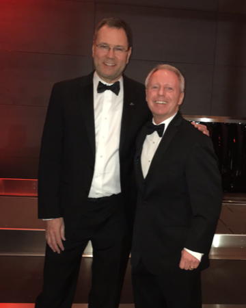 Alaska Airlines CEO Brad Tilden with Terry Ryan