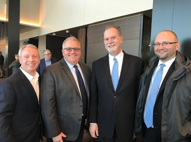 Photo of Terry Ryan, Sheriff Trenary, Peter Camp and Eric Parks