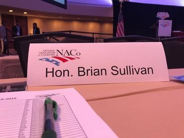 Image of Hon. Brian Sullivan Place card at NACo