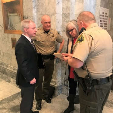 Photo of Chair Ryan, Sheriff Trenary lobbying in Olympia