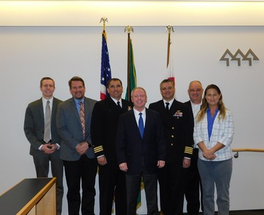 Photograph of Navy Officials with County Council