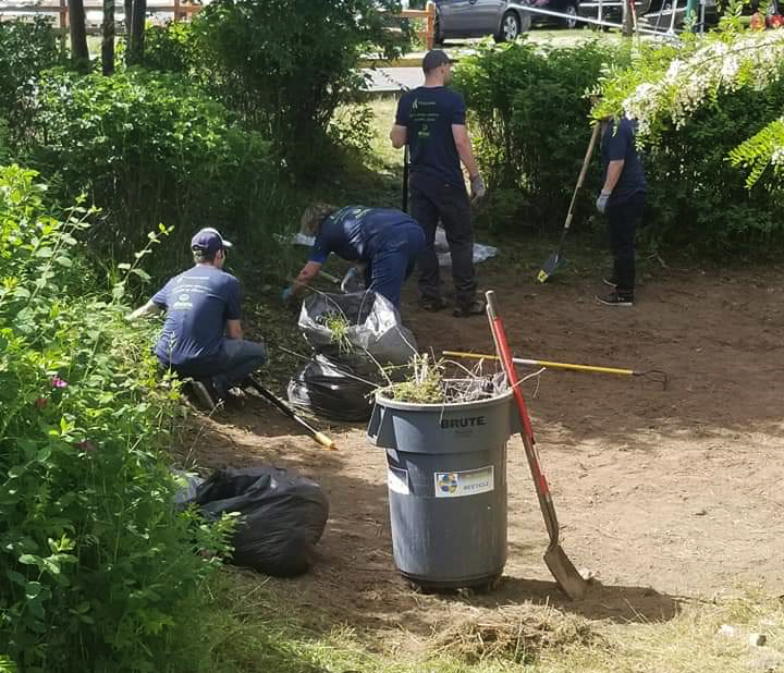 Image of volunteers cleaning up