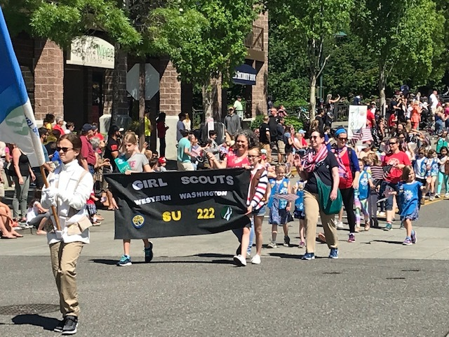 Girl Scouts in Memorial Day Parade