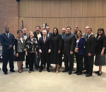 King and Snohomish County Councils with newly appointed Sen. Stanford