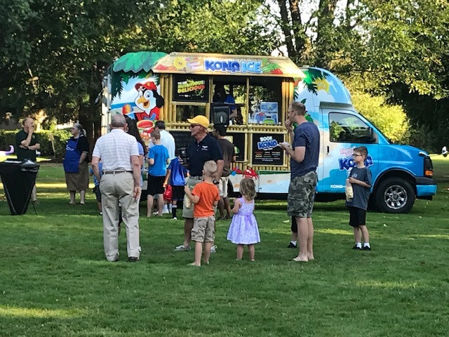 Picture of NNO event with snocone truck