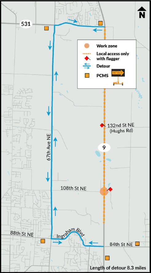 SR 9 Detour Route