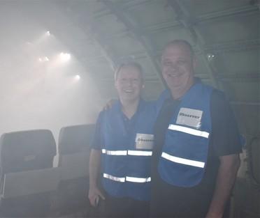 Chair Ryan and CM Sullivan at fire training