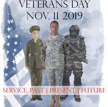 Mill Creek veterans day parade logo
