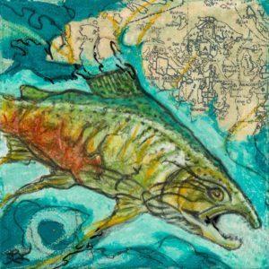Diving Deep - art by Lori Knight