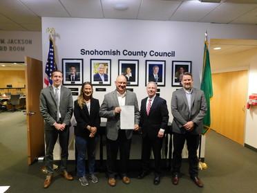 Councilmembers honoring Sullivan