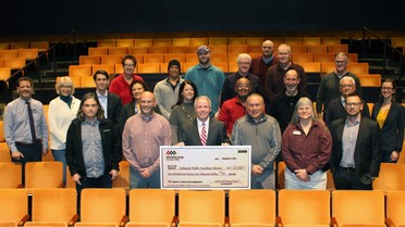 Photo of check presentation at Edmonds Center of the Arts