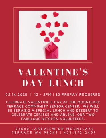 Valentine's Day Poster Event at Senior Center