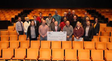 Edmonds Public Facilities District check presentation for $500,000