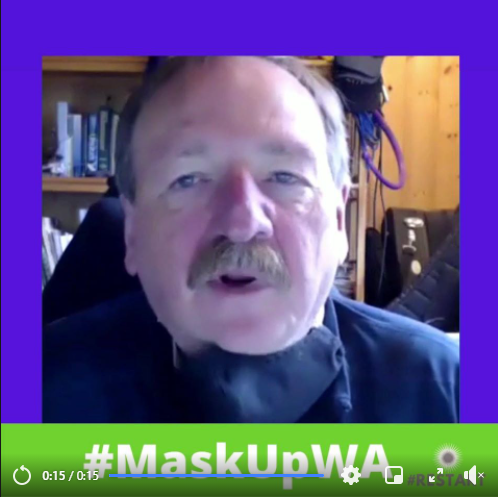 Screen shot of #MaskUpMonday video by Snohomish County Executive Dave Somers
