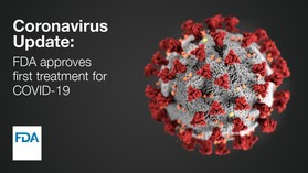 FDA announces approval of first treatment for COVID-19