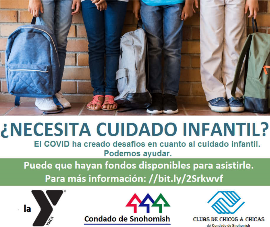 Advertisement for childcare assistance spanish translation