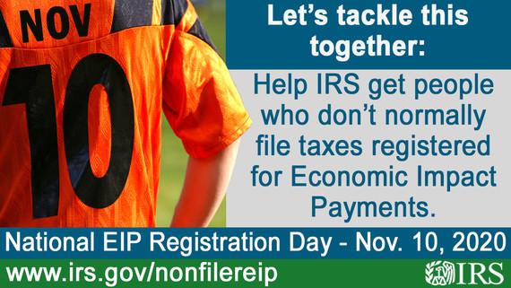 Nov. 10 Non-filer EIP day