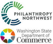 Philanthropy NW logo with Commerce official logo