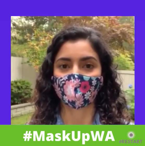 Screenshot from Councilwoman Elisabeth Crawford's #MaskUpWA social media video