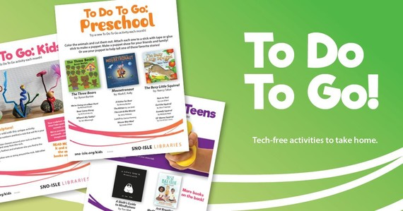 Tech-free activities to take home from Sno-Isle libraries