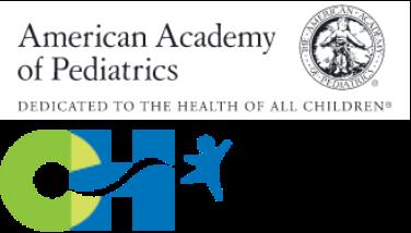 American academy of pediatrics and Children's Hospital Association combined logos