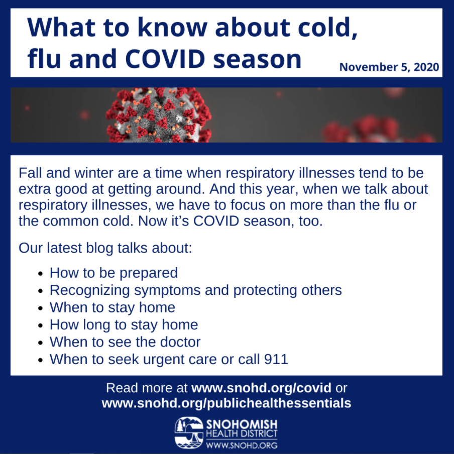 blog post: what to know about cold, flu and COVID season