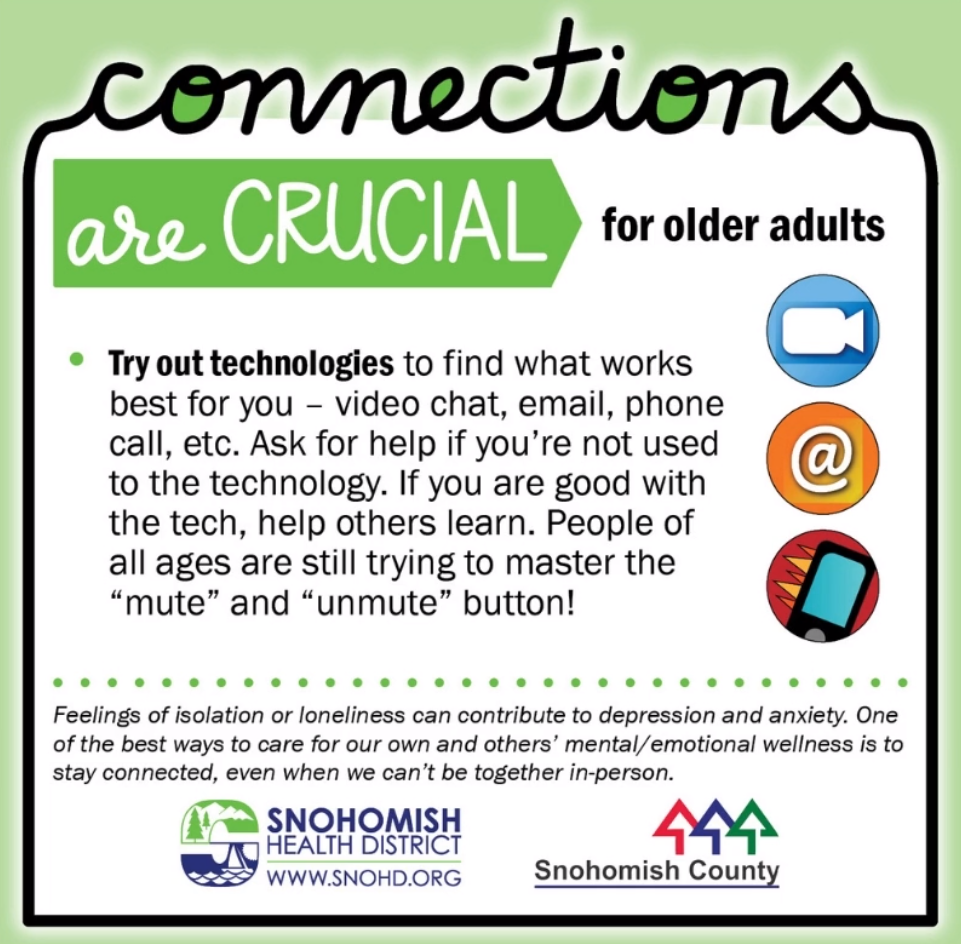Screenshot from Connections are crucial ideas for older adults social media video