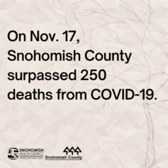 screenshot from social media video on surpassing 250 deaths in Snohomish County