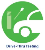 drive-thru testing button