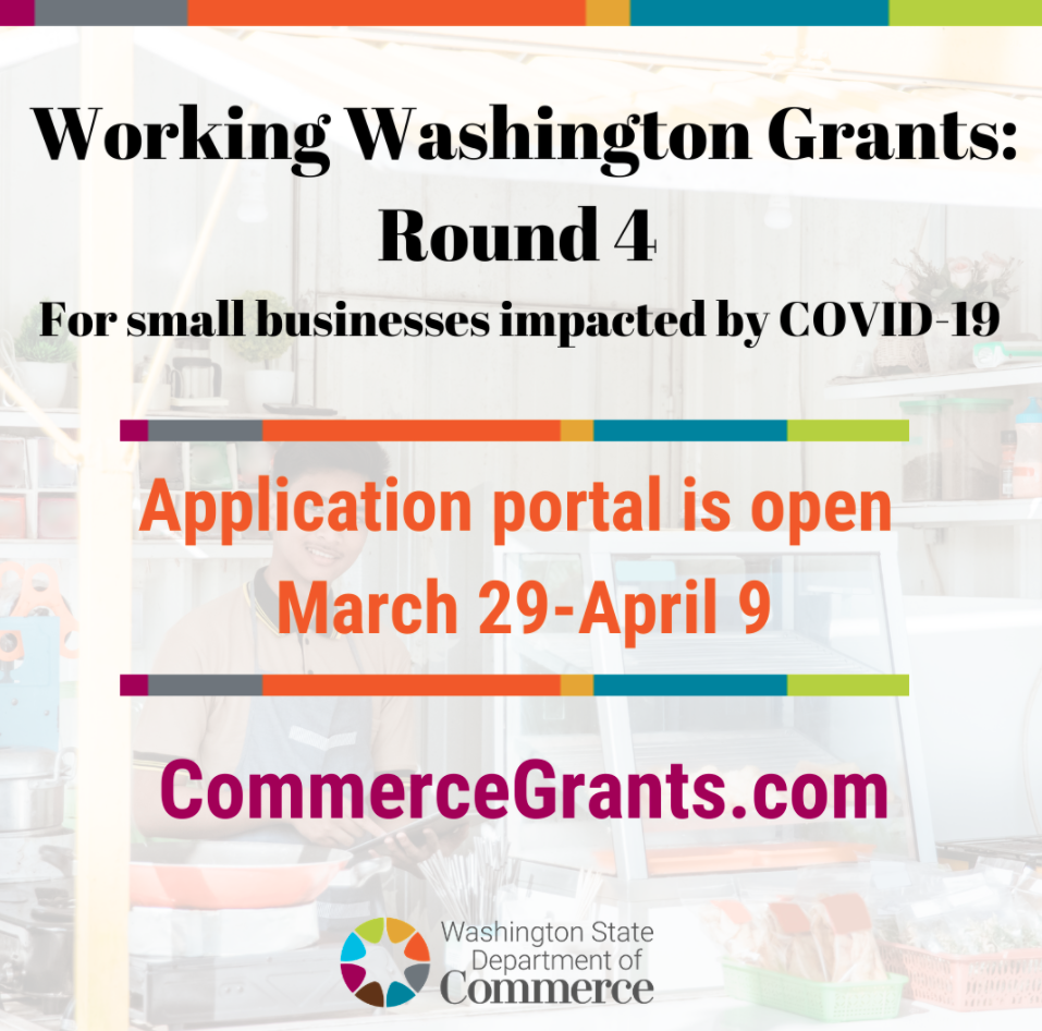 Working Washington Grants: Round 4 open March 29 through April 9 Opens in new window