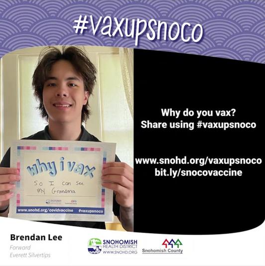 Screengrab from Brendan Lee #vaxupsnoco video