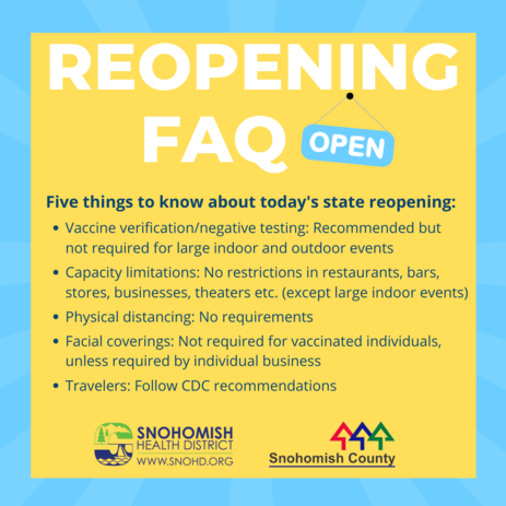 Reopening FAQs from Gov. Jay Inslee