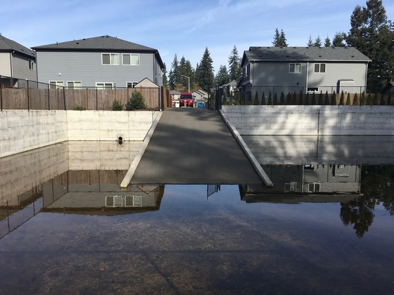Residential stormwater catchment pond