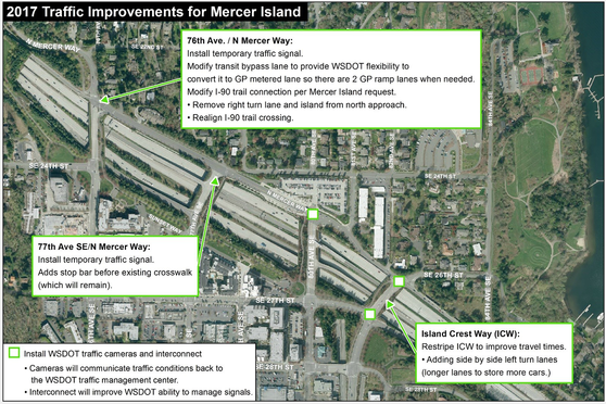 Mercer Island traffic map May 2017.