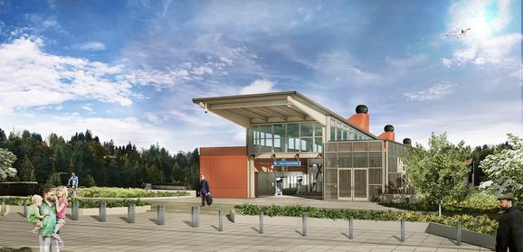 Mercer Island station rendering.