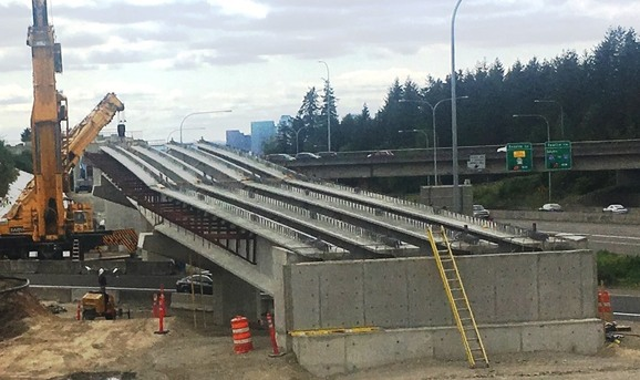 Image of girder setting in Overlake