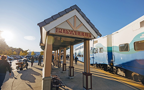 Sounder Puyallup station.