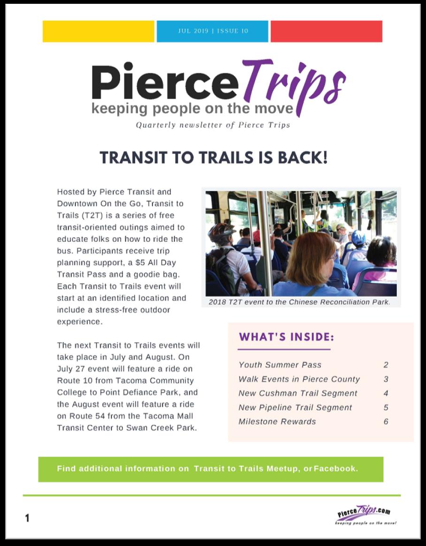 Summer 2019 Pierce Trips Newsletter