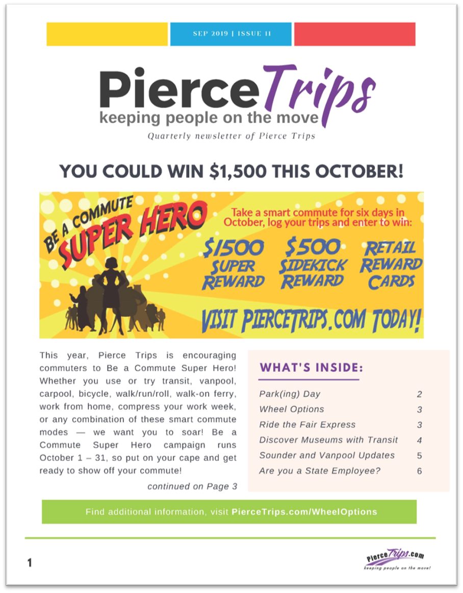 Fall 2019 Pierce Trips Newsletter